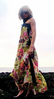 Silk georgette maxi dress