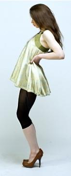 Silk brocade frock sac