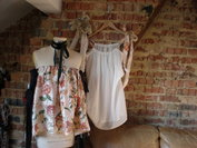 White and floral dresses